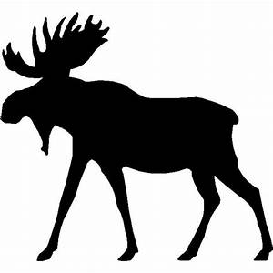 Moose Silhouette Wall Hanging/ Magnetic Memo board