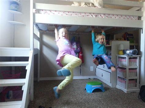 hanging bunk beds free plans at diy loft bed for 100