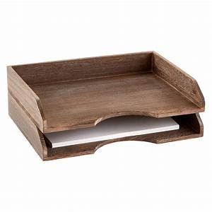 Feathergrain wooden stackable letter tray letter tray for Decorative stacking letter trays