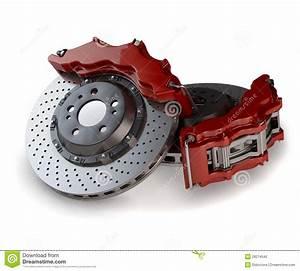Meilleur Disque De Frein Voiture : disques de frein avec des calibres rouges d 39 une voiture de course photo libre de droits image ~ Maxctalentgroup.com Avis de Voitures