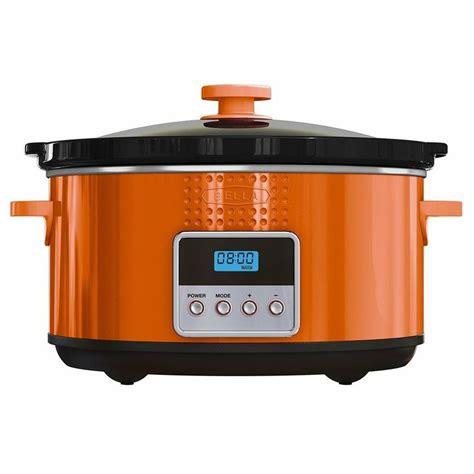 Bella Programmable Slow Cooker 5quart Orange $2895 Out