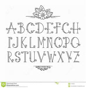 initial fonts for monogram line vector decorative font stock vector image 57709362