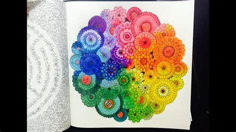 secret garden colouring book rainbow flowers  colour