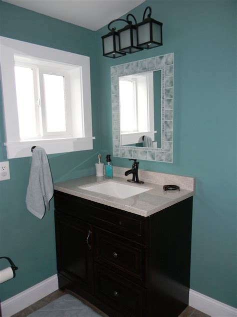 Bathroom Mirror Remodel by Giving The Throne The Royal Treatment Mobile Home