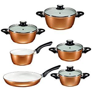 review  buying guide  beem germany supertherm copper style cookware set including frying