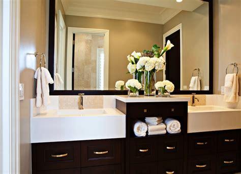 espresso bathroom cabinets transitional bathroom