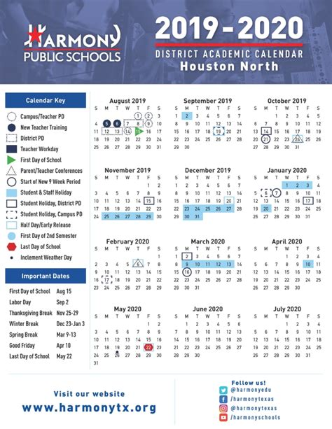 board approved school calendar harmony school