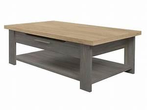 Conforama Table Basse : table basse rectangulaire toscane gris chez conforama ~ Teatrodelosmanantiales.com Idées de Décoration
