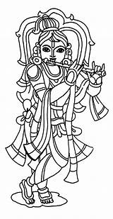 Krishna Lord Coloring Pages Drawing Pencil Sketch Template Cartoon sketch template