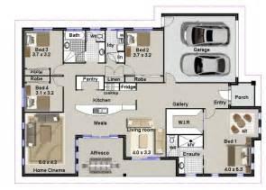 4 bedroom house plans or by australian floor plans 4 - Make Your Own Floor Plans