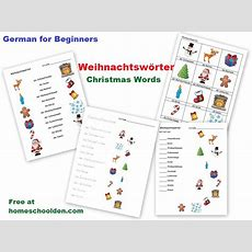 German For Beginners Weihnachtswörter  Christmas Words  Homeschool Den