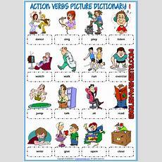 Pin By Lara Keyworth On Esl  Action Verbs, Esl, Verb Worksheets