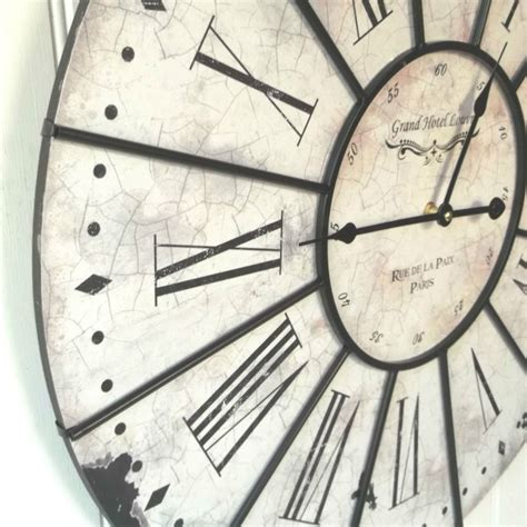 shabby chic large wall clocks extra large french shabby chic wall clock amazing grace interiors