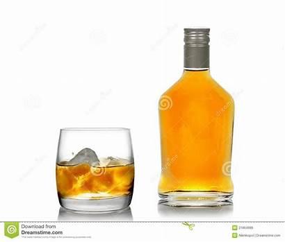 Whisky Bottle Glass Ice Royalty Dreamstime