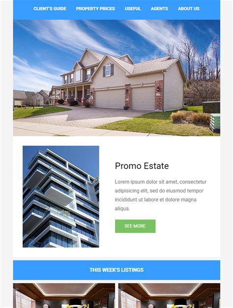 Email Newsletter Templates Real Estate by 99 Free Responsive Html Email Templates To Grab In 2018