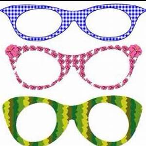 Printable Funky Glasses Frames Classroom Crafts