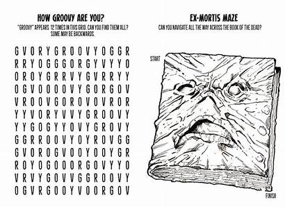 Evil Dead Coloring Pages Inside Bloody Disgusting
