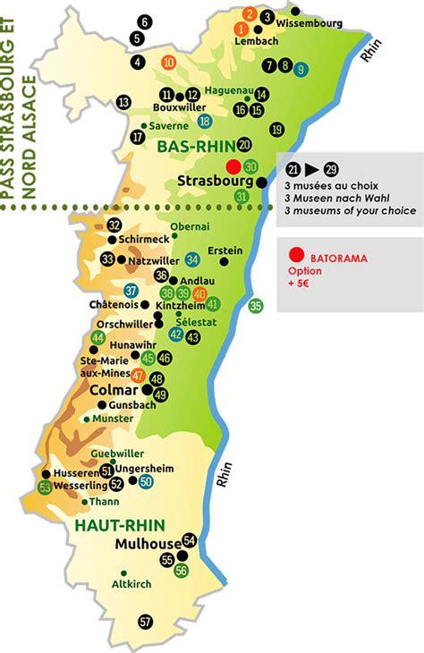 Weinstraße Elsass Karte