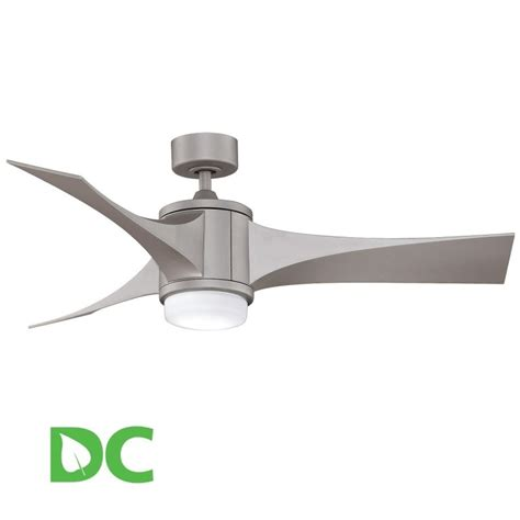 fanimation fpd7943mg matte gray 52 quot 3 blade dc ceiling fan