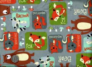 Woodland Creatures Curtains by Good Buy Flannel Quilt Fabric Woodland Blocks Animals
