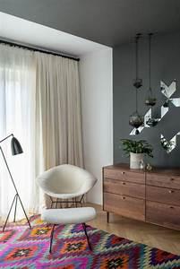 Tapis Deco Salon : d co salon deco nordique et tapis color dans le salon moderne avec meuble scandinave ~ Teatrodelosmanantiales.com Idées de Décoration