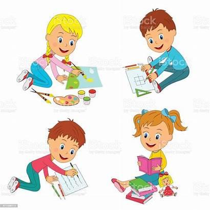 Learning Activity Clip Children Draw Geitjes Jonge