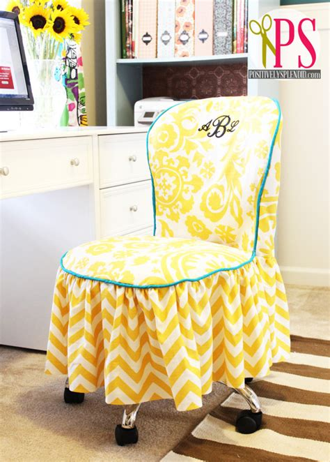 desk chair slipcover picture of diy office chair slipcover