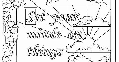 Colossians Coloring Mind Above
