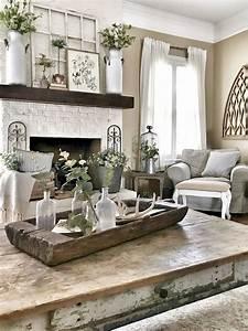 75, Best, Farmhouse, Wall, Decor, Ideas, For, Living, Room