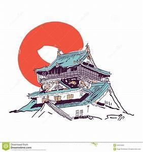 Maison Japonaise Dessin : dessin japonais de maison illustration de vecteur illustration du porcelaine 34613403 ~ Melissatoandfro.com Idées de Décoration