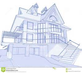 blueprints of houses modern house blueprint stock photo image 6360230