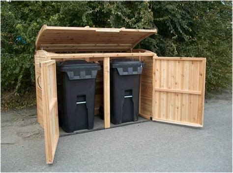white garbage shed 25 best ideas about garbage can shed on