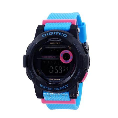 jam tangan digitec digital sport digitec dg 2074t hitam biru jam tangan sport anti air murah