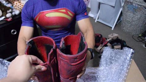 Unboxing Deadpool Suit With Props Professional Cosplay