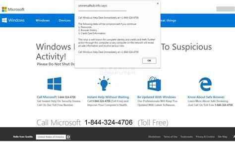 windows help desk scam remove the call windows help desk immediately tech support