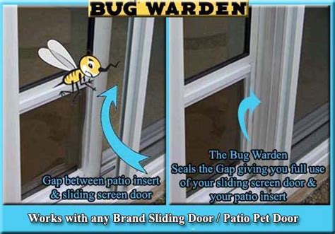 bug warden gap sealer for sliding screen doors