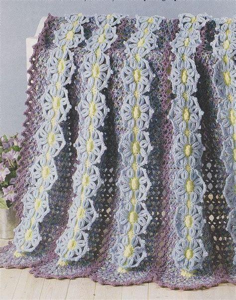 garden afghan crochet pattern pretty flowers