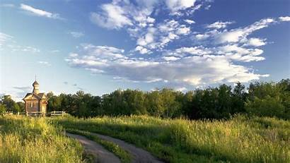 Country Road Field Backgrounds Desktop Temple Trees