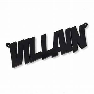 VILLAIN laser cut word charm - £1 50 : craftjam co uk