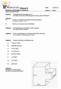 Arbeit Berechnen : aufgaben volumen quader w erfel matheaufgaben klasse 6 ~ Themetempest.com Abrechnung