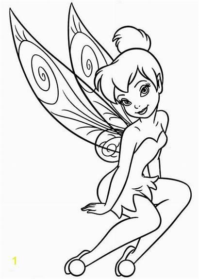 Tinkerbell Coloring Disney Friends Tinker Bell Fairies