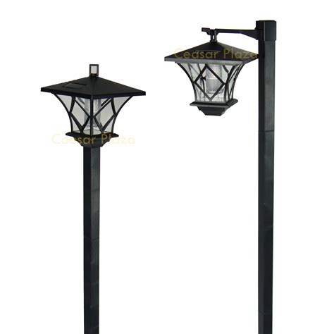 outdoor solar l post outdoor solar pole lights gama sonic 174 7 solar l post