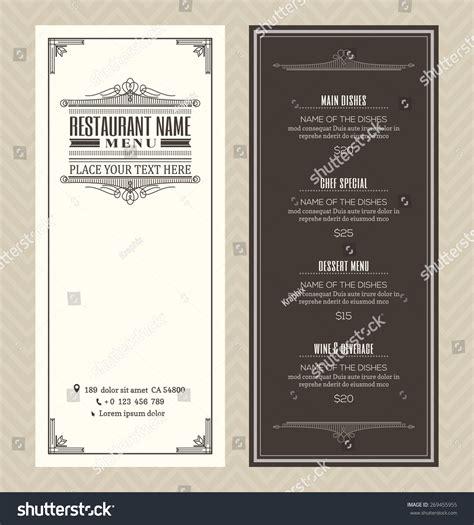 restaurant cafe menu vector design template stock vector