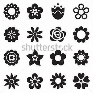 Simple Flower Patterns Black And White