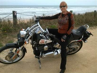 Daytona Beach Bike Week Biker Woman Harley