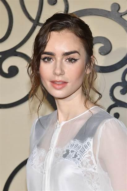 Lily Collins Makeup Paris Hair Givenchy Row