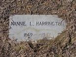 "Nancy ""Nannie"" Lawrence Harrington (1869-1947) - Find A ..."