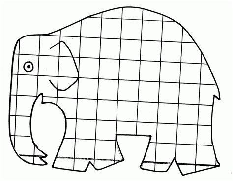 Elmer The Elephant Template by Elmer The Elephant Page Coloring Pages