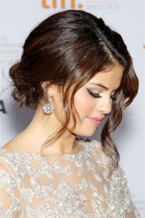 Selena gomez messy updo/getty images. 20+ Bun Hairstyle Designs, Ideas | Haircuts | Design ...