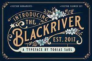 BLACKRIVER FONT... Creative Market